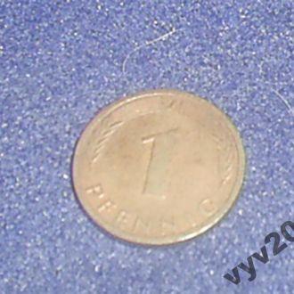 ФРГ-1990 г.-1 пфенниг (J)