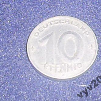 ГДР-1952 г.-10 пфеннигов (А)