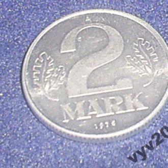 ГДР-1975 г.-2 марки (А)