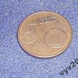 Германия-2002 г.-5 центoв (J)