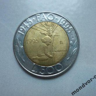 Сан Марино 500 лир  1995 биметалл состояние