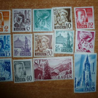 1948. Баден, франц. зона  №14-27 Полная негаш. серия MNH**