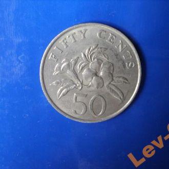 1988 Сингапур. 50- центов.