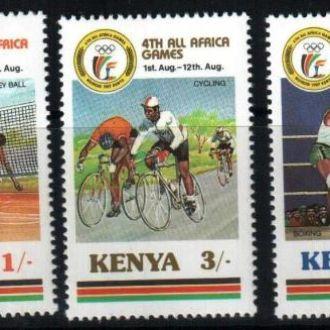 Кения 1987 спорт олимпийские игры  MNH