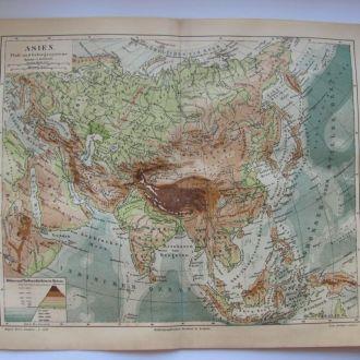 Карта Asien - 1885 - 1900