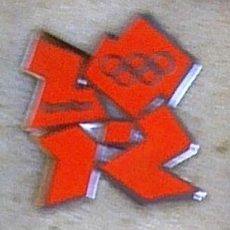 спорт,эмблема олимпиады Лондон, оранжевая.