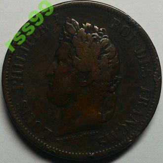 Французские колонии 10 центов 1844 год РЕДКАЯ! СОСТОЯНИЕ