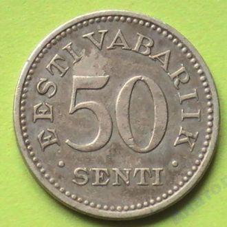50 Сенти 1936 г Эстония 50 Сенті 1936 р Естонія