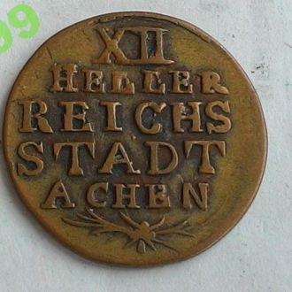 Аахен 12 геллеров 1792 год ОТЛИЧНОЕ СОСТОЯНИЕ!!!
