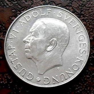 10 крон Швеция РЕДКАЯ !!! состояние!!! серебро