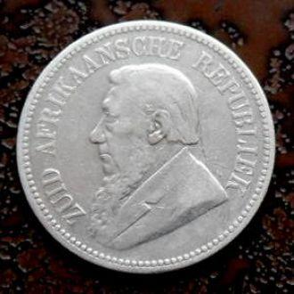2 1/2 шиллинга Южная Африка 1894 R РЕДКАЯ!!! серебро