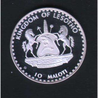 Лесото 1982 г - 10 малоти - футбол