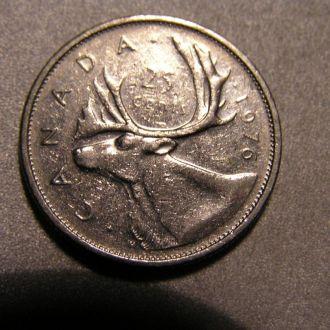 CANADA Канада 1976 центів 25 cents Центов центів