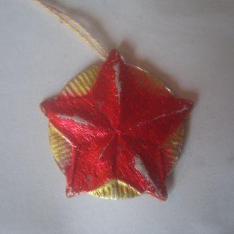 Игрушка елочная картон