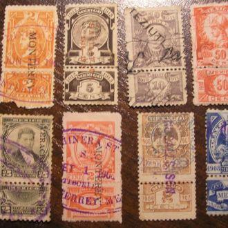 США Мексика 5 центавос 1913 Серія з конрмаркою