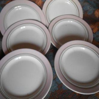 Набор тарелок Буди с позолотой 6шт