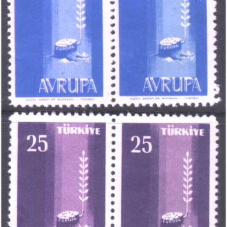 ZM Турция 1958 г MNH - ЕВРОПА - пары