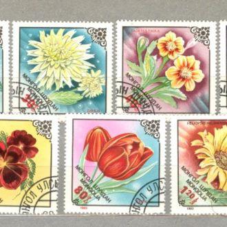 Монголия Цветы 1983 (гаш.)