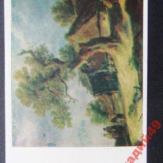 открытки(пейзаж) антикварные-худ Як ван Гойен1960г