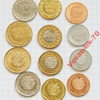 АРМЕНИЯ - набор монет 2005 года 6сет