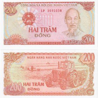 Вьетнам 200 донг 1987 UNC