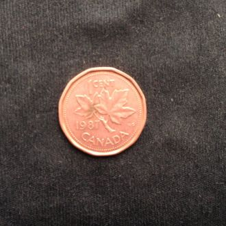 Канада 1 цент 1987г. КМ#132