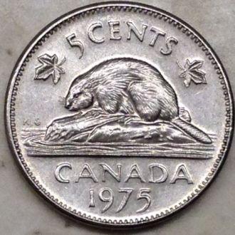 Канада 5 центов 1975