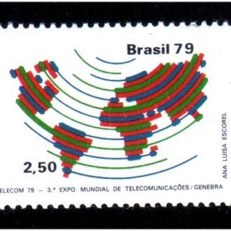ZM А Бразилия 1979 г  MNH - карта