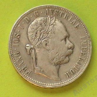 1 Флорин 1880 г  Серебро Австрия 1 Гульден Флорін