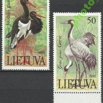 Литва 1991 фауна птицы 2м.**