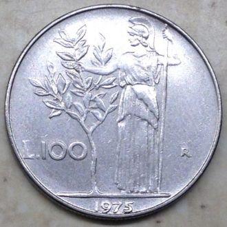 Италия 100 лир 1975