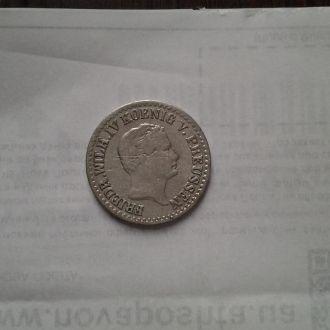 Пруссия 1 сильбер грошен 1850 г. Серебро. Редкая