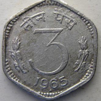 Индия 3 пайс 1965 год