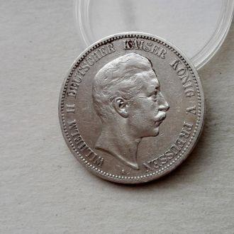 Германия Пруссия 5 марок 1902 A серебро сохран !