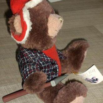 Коллеционный Мишка Тедди - дровосек.
