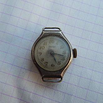 Часы ТАТРА наручные старинные не рабочие серебро