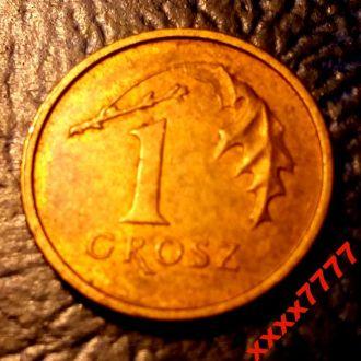 1 грош 2004 года Польша - 100% оригинал  !!!