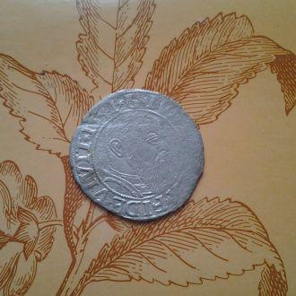 Средневековый Мариенгрош . Серебро.