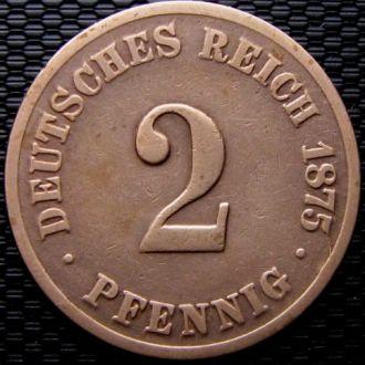 Германия 2 пфеннига (PFENNIG) 1875 год (C)
