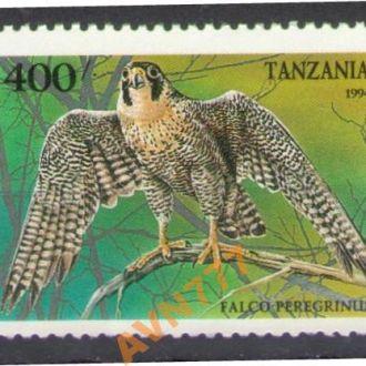 Танзания 1994 Фауна Птицы Сапсан MNH 3 евро