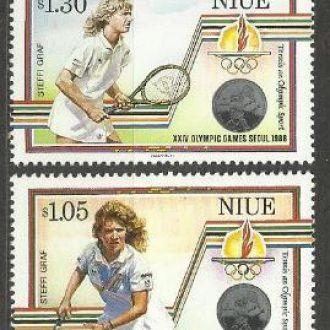 Ниуэ 1987 олимпиада спорт теннис 4м.**