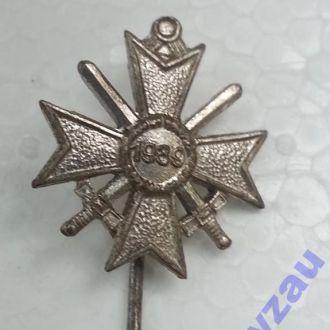 Рейх, Миниат. Рыцарского креста КВК с мечами Rare!