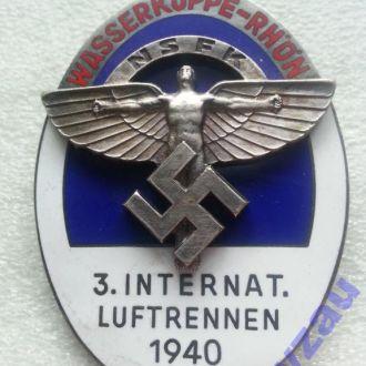 Германия 3 Рейх Знак НСФК 3 Межд авиагонки 1940 R!