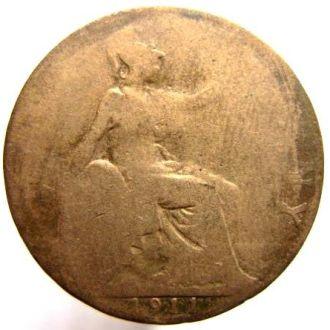 Великобритания 1/2 пенни 1911г.