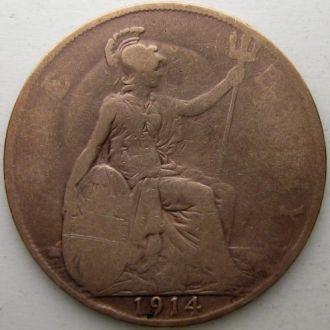 Великобритания 1 пенни 1914 год