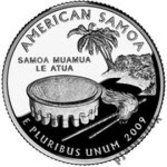 25 центов США Американское Самоа 2009 г. 25 центов Самоа
