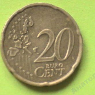 20 Евроцентов 2000 г Франция 20 Центов 2000 г