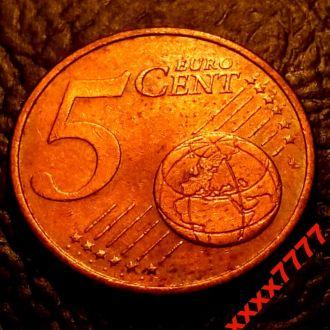 """5 евроцентов 2002 года """" D """"  Германия"""