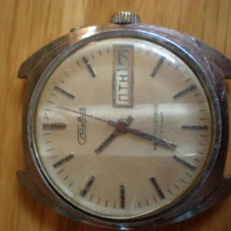 часы Слава автоподзавод рабочий баланс 13072