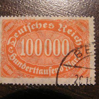 Німеччина Номінал 100 000 тис. Рейх Mi 257